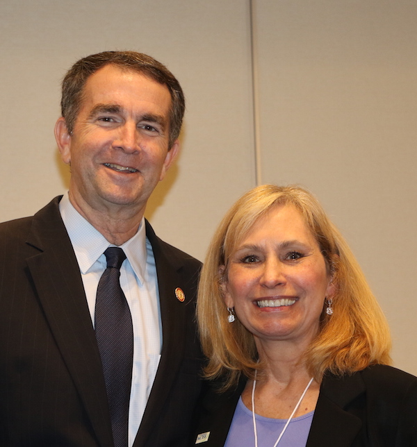 Mary Eckert and Governor Northam